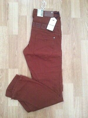 Boys Eto 9901 Chino Jeans In A Nice Rusty Fashion Colour Size 27 = Age 13 Years