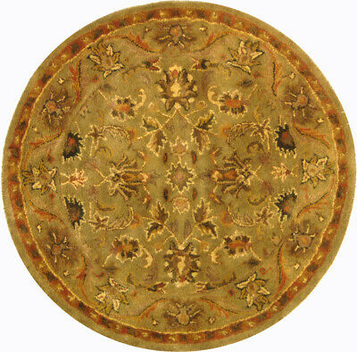 Hand-Tufted Antiquity OLIVE/GOLD Wool Area Rug 3' 6 Round