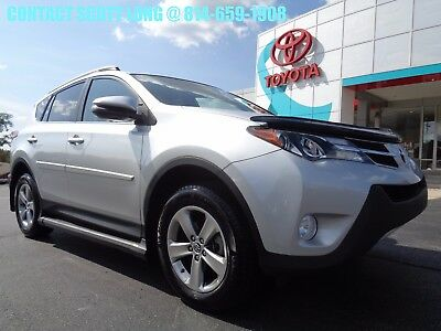 2015 Toyota RAV4 2015 XLE All Wheel Drive Silver Paint Toyota Certified 2015 Rav4 XLE AWD Silver 1 Owner Sunroof Clean Carfax 4WD