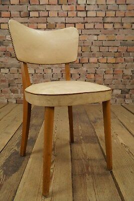 50er Rockabilly Cocktail Chair 50s Vintage Vinyl Wood Mid Century Design 60ER
