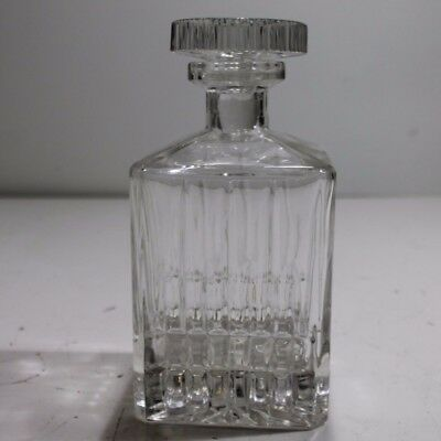 Vintage Cut Glass Bottle Decanter with Stopper NEW