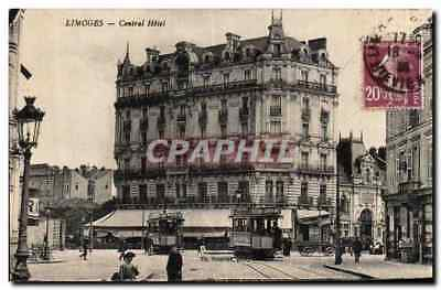 Limoges - Central Hotel - CPA