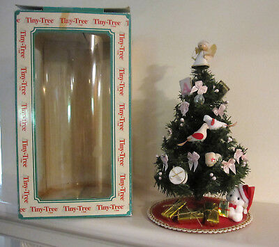 """Vintage Doves Angel Ornaments Tiny Christmas Tree By Smile 12"""" W/box"""