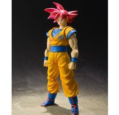 Bandai S H Figuarts Dragon Ball Z Super Saiyan God Son Goku Figure Gokou SH SHF