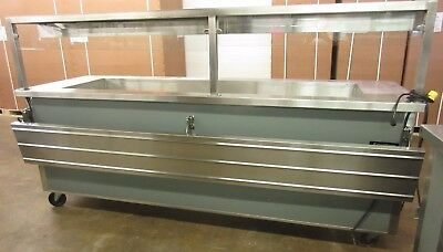 """Delfield 96"""" Mobile Cafeteria Style Refrigerated Buffet"""