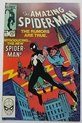 The Amazing Spider-Man No 252 1st Black Suit in Series VF Marvel Comic Book 1984
