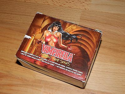 Vampirella complete base set o72 trading cards , in a box 1998