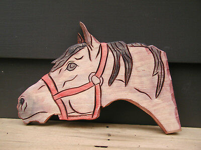 hand carved HORSE by CJ Whillock woodcarving western art decor room design #1264