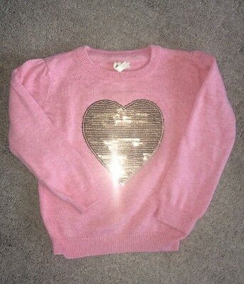 18-24 Month Girls Jumper, Sparkly Heart, 1.5-2 Years, Pink