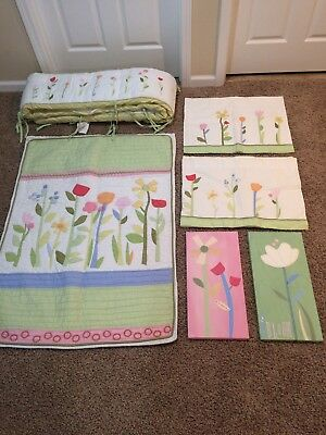 Pottery Barn girls bedding - crib/toddler quilt and more