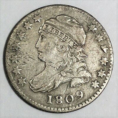 1809 Capped Bust Dime Beautiful High Grade Coin Very Rare Date