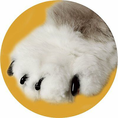 Soft Black and White Nail Caps for Cats with Adhesive Glue and Applicator