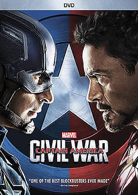 Captain America: Civil War DVD Disney Marvel New Sealed Free Shipping