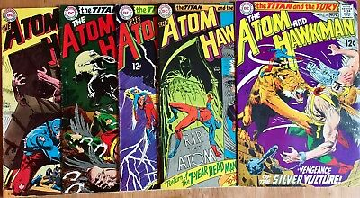 Atom and Hawkman #39, 40, 41, 43 & 45! DC Silver Age Classics in nice condition!