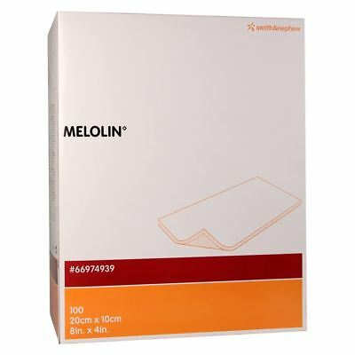 Melolin Low Adherent Absorbent Cushioned Dressing 20 cm x 10 cm - (box of 100)