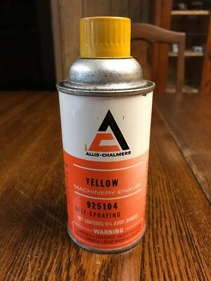 Vintage Allis-Chalmers Yellow Machinery Enamel Spray Paint Can