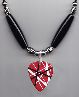 Eddie Van Halen Red Frankentrat Guitar Pick Necklace - 2012 Tour
