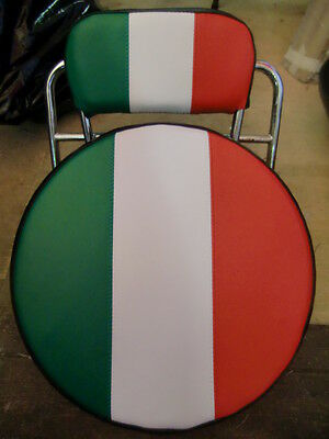 Italian Flag Scooter Wheel/Back Pad Cover