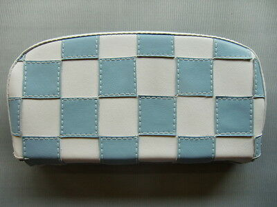 Light Blue/ White Check Scooter Back Rest Cover (Purse Style)
