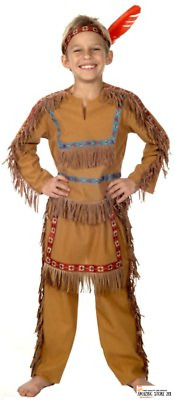 Indian Costume Native American Child Boy Boys  4 Different Sizes
