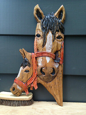 hand carved HORSES by CjWhillock woodcarving western art decor room design #1265