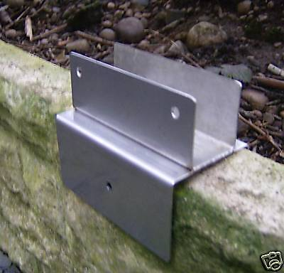 .fence Panel Brackets.stainless Steel.x6 Original Design