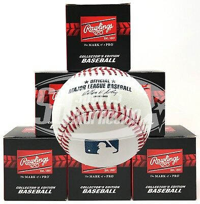 (6) Rawlings Official Major League Game Baseball ROMLB Selig Boxed - 1/2 Dozen