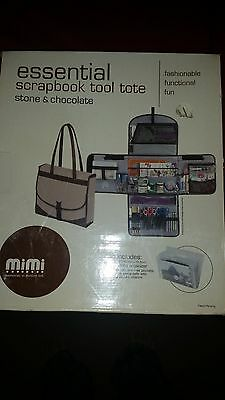 MIMI essential Scrapbook tools and tote  color stone and chocolate