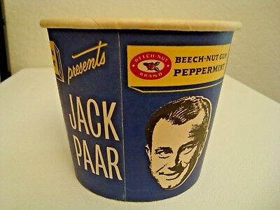 Vintage Beech Nut Gum Jack Paar Gum Tub Counter Display