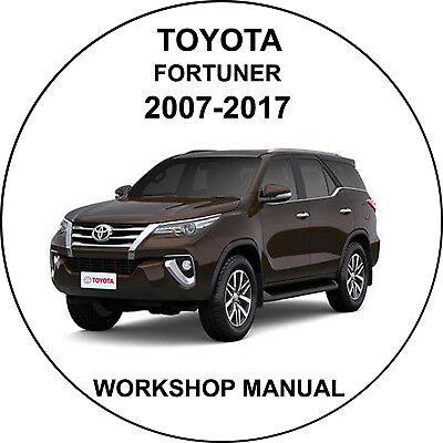 Toyota Fortuner 2007-2017 Workshop Service Repair Manual