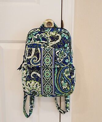 EUC Vera Bradley Small Bacckpack in Rhythm and Blues pattern