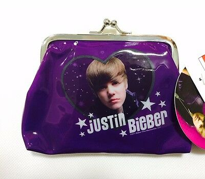 Licensed JUSTIN BIEBER Coin Purse Card Holder Money Cash Case Bag BNWT Celebrity