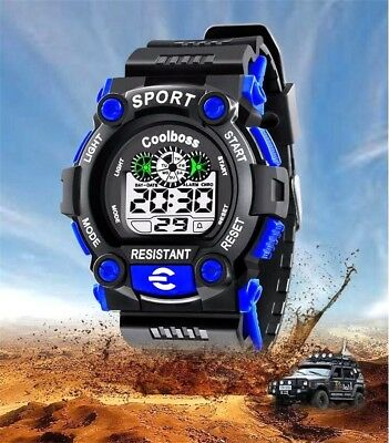 CoolBoss Wristwatch Students Children Kids Sports Digital Watch for Boys & Girls