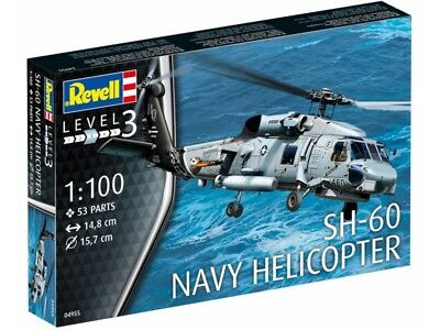 Revell 1/100 SH-60 Navy Helicopter Plastic Model Kit 04955