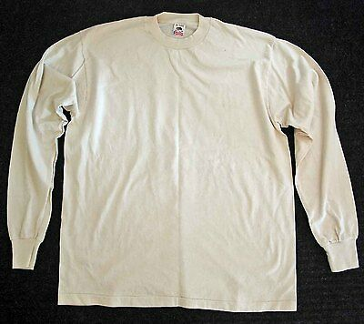 Men's Size XL 100% cotton Shirt Long Sleeves, snug neck for welding protection