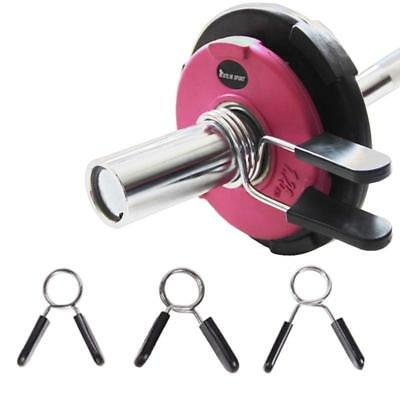 1pair Weight Lifting Clamp Spring Clips for Weight Bar Lock Dumbbell Gym Equip.