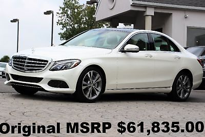 2016 Mercedes-Benz C-Class C350e Luxury PKG 2016 Warranty Start Date 08-17 Panorama Roof Designo Diamond White Beige Leather