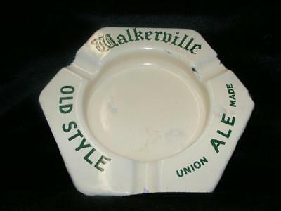 Vintage Walkerville Canada Brewery Old Style Ale Enamelware Ashtray