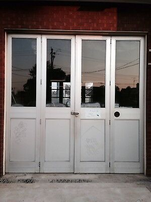 Bi-fold doors - Industrial style, from old fire station.