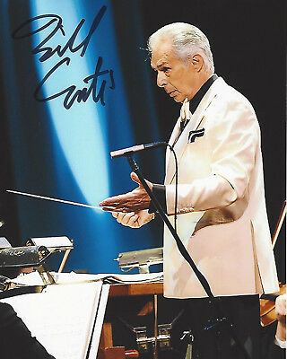Composer Bill Conti Signed Authentic 8X10 Photo 1 Coa Rocky Iv The Karate Kid