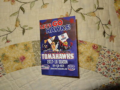 2017/18 Johnstown Tomahawks NAHL Hockey Pocket Schedule - ECHL, AHL, NHL