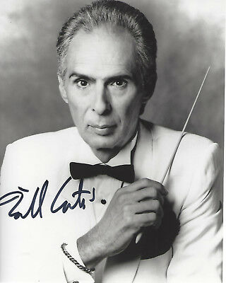 Composer Bill Conti Signed Authentic 8X10 Photo 4 Coa Rocky Iv The Karate Kid