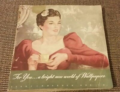 1939 SEARS ROEBUCK AND COMPANY WALLPAPER CATALOG~90 Pages
