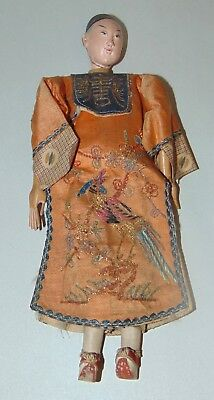 ANTIQUE CHINESE Opera Doll  LONG FINGERS Signed