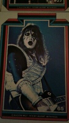 Kiss 1978 trading cards Gene Paul Ace Peter