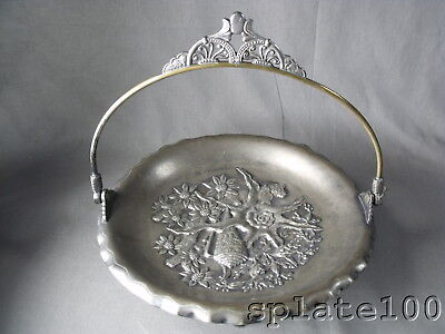 Pairpoint Nautical Themed Victorian Silver Plate Cake Basket