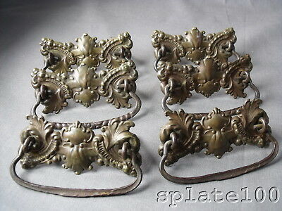 Set 6 Stamped Brass Victorian Ornate Drawer Pulls .99 No Reserve