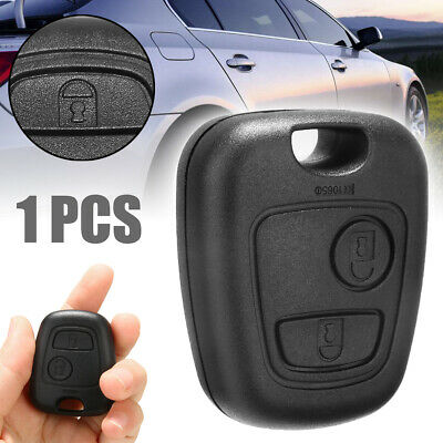 2 Button Remote Key Case Shell Blade Switch & Battery Repair Kit For Peugeot 206