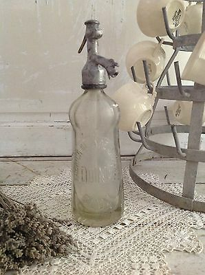 Antique French Glass Seltzer Bottle
