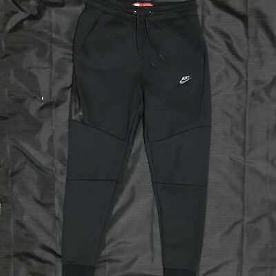 Nike Men's Tech Fleece Black Pants Joggers - Size M